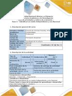 Guía de Actividades y Rúbrica de Evaluación - Paso 3 - Identificar Un Medio Independiente-nacional