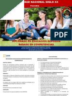 DIPLOMADO EN EDUCACIÓN SUPERIOR BASADO EN COMPETENCIAS