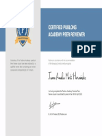 Publons Academy Graduation Certificate