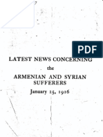 Latest news concerning the Armenian and Syrian sufferers, January 25, 1916