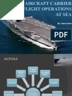 Aircraft Carrier Flight Operations at Sea