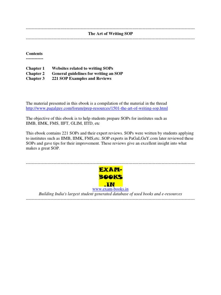 The Art Of Writing SOP | Leadership U0026 Mentoring | Leadership