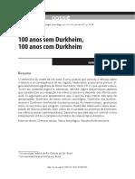 100 anos sem Durkheim, 100 anos com Durkheim