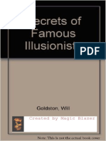 Will Goldston - Secrets of Famous Illusionists
