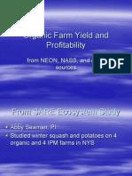 Organic Farm Yield and Profitability
