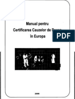 2006 Manual Pentru Certificarea Cauzelor de Deces in Europa