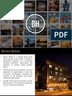 Brown Hotels - Company Presentation