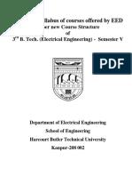 syllabus EE Btech New  harcourt butler technical university 3rd semsester