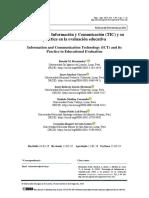 Tecnología de Información y Comunicación (TIC) y su práctica en la evaluación educativa