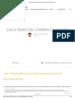 Las 6 fases del proceso de cambio personal (primera parte)
