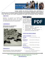 I Congreso Nacional de procesos de Gestion de RRHH