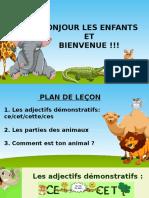 5.SINIFLAR - ADJECTIFS DEMONSTRATIFS et LES PARTIES DES ANIMAUX -HACER SAGER
