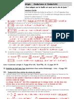 Corrige Exercices Conductimetrie Feuille Travaux Diriges