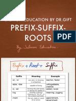 Prefix suffix roots