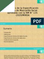 Alcances de La Especificación Técnica de Mascarilla Aprobada