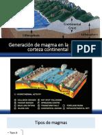 5.Generación de magma en la corteza continental