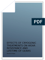 EFFECTS OF CRYOGENIC TREATMENTS ON WEAR RESISTANCE AND LIFETIME OF GEARS - Research Paper