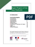 Technologies Propres & Eau dans l'industrie