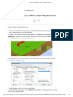 How to create a drillhole section in MapInfo Discover