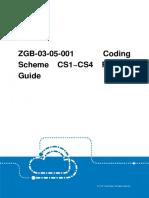 GERAN ZGB-03-05-001 Coding Scheme CS1~CS4 Feature Guide