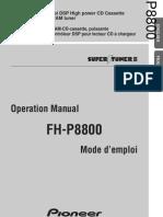 Auto Radio Notice 130fhp8800