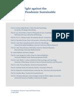 Coronavirus Pandemic Strategy