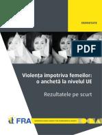 Violența împotriva femeilor_ o anchetă la nivelul UE – Rezultatele pe scurt