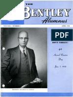 Bentley Alumnus - Volume 01 Issue 02