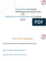 CTScan and Crossectional Anatomy of Thyroid