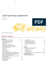 First Quarter 2020 Earnings Supplement