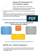 WHO WHEN ISO 14020