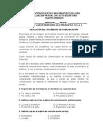 EVALUACION PARCIAL DE LECTO-ESCRITURA CUARTO PERIODO