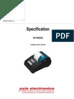 Therma Printer Owners Manual