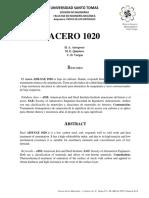 ACERO 1020. Arregoces, Quintero, Vargas