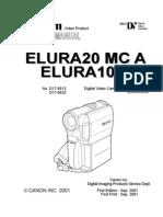 Canon - Elura 10A, 20MCA - Service Manual