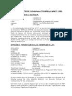 DECLARACIÓN DE Crisóstomo TERRAZA ZARATE