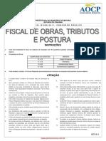 Prova AOCP - Fiscal de Obras