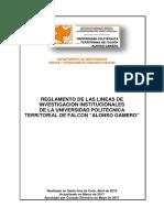 LINEAS DE INVESTIGACION INSTITUCIONALES