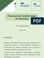 Processos de Transformação de Alimentos