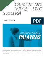 O PODER DE NOSSAS PALAVRAS - Luciano Subirá - ORVALHO.COM - LUCIANO SUBIRÁ