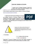 APPLICAZIONI DEL TEOREMA DI PITAGORA (1)