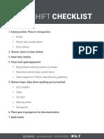 CorrectionsOne After-Shift Checklist