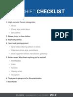 EMS1 After-Shift Checklist