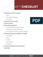 FireRescue1 After-Shift Checklist