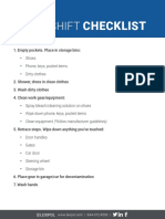 PoliceOne After-Shift Checklist