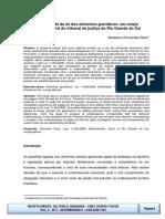 A efetividade da lei dos alimentos gravidicos - um cotejo jurisprudencial do tribunal de justica do RS