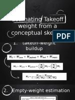 estimating takeoff weight1