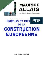 Erreurs et impasses de la construction européenne by Maurice Allais (z-lib.org).pdf