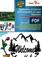 Application of Internet Computer in Legal Research
