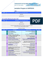 Oral Presentation List at AWPP2010, HANOI, VIETNAM